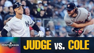 Star Showdown: Astros' Gerrit Cole vs. Yankees' Aaron Judge in ALCS Game 3 | MLB Highlights