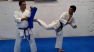 Ushiro tobi geri/jump spin Back kick tutorial
