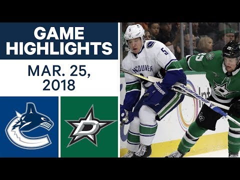 NHL Game Highlights | Canucks vs. Stars - Mar. 25, 2018