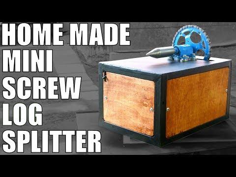 Mini SCREW LOG SPLITTER (made from scrap)