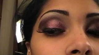 make up tutorial urban decay ammo palette metallic purple smokey eye