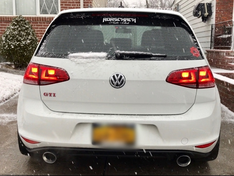 Installing New Exhaust on my VW GTI MK7 (DIY) (AWE Tuning)