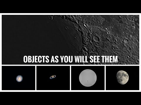 Solar System Objects As Seen Thru Common Retail Telescopes