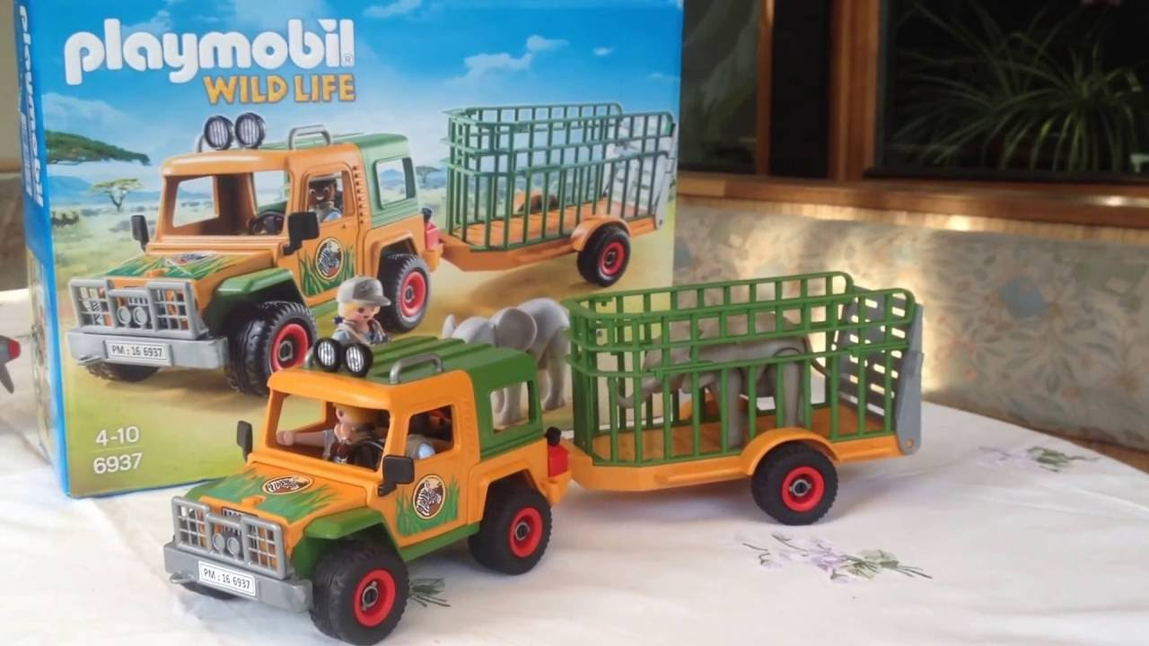 playmobil wildlife 6937 jeep part 4 youtube. Black Bedroom Furniture Sets. Home Design Ideas