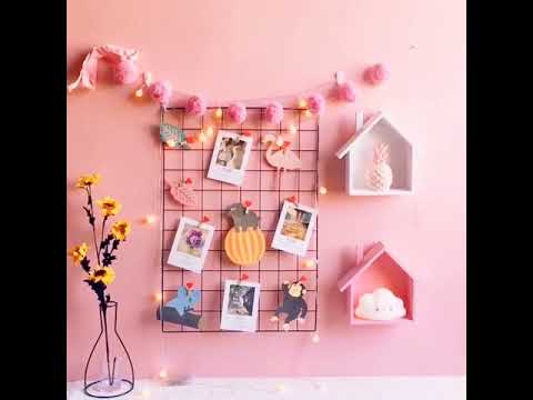 WollWoll Photo Wall Christmas Decoration Metal Mesh Grid with LED Lights