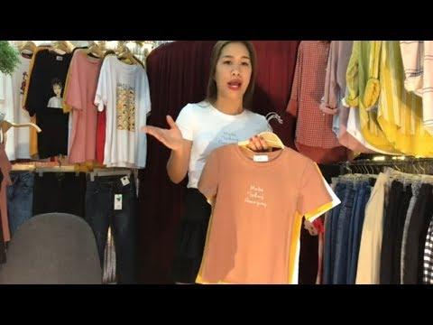Review áo thun chân váy l thời trang nữ 2019 l Trang Vũ TV
