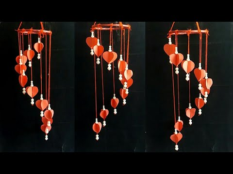 Diy paper craft idea | beautiful wind chime | wind chime idea | wall hanging |
