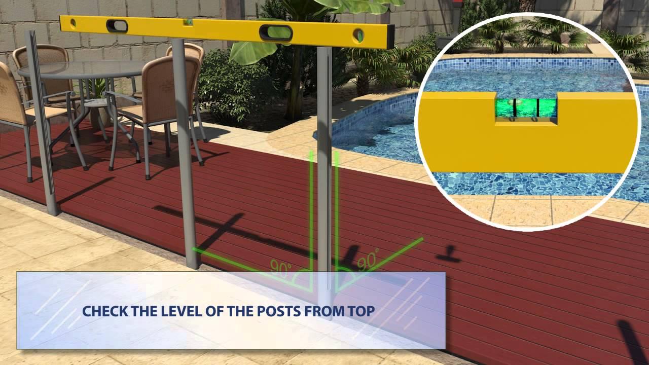 Semi frameless glass pool fence - Wa Pool Fencing Semi Frameless Glass Fencing Aluminum Posts In Ground Youtube