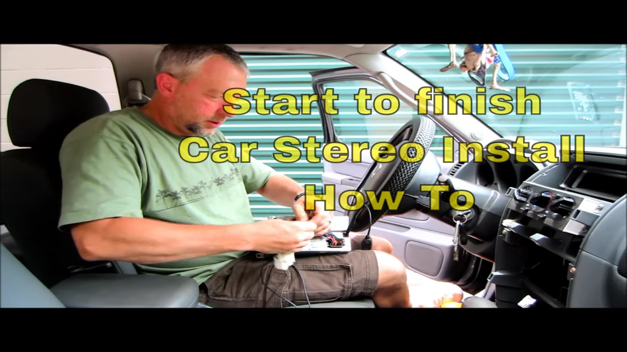 nissan dvd stereo install how to from start to finish [ 1280 x 720 Pixel ]