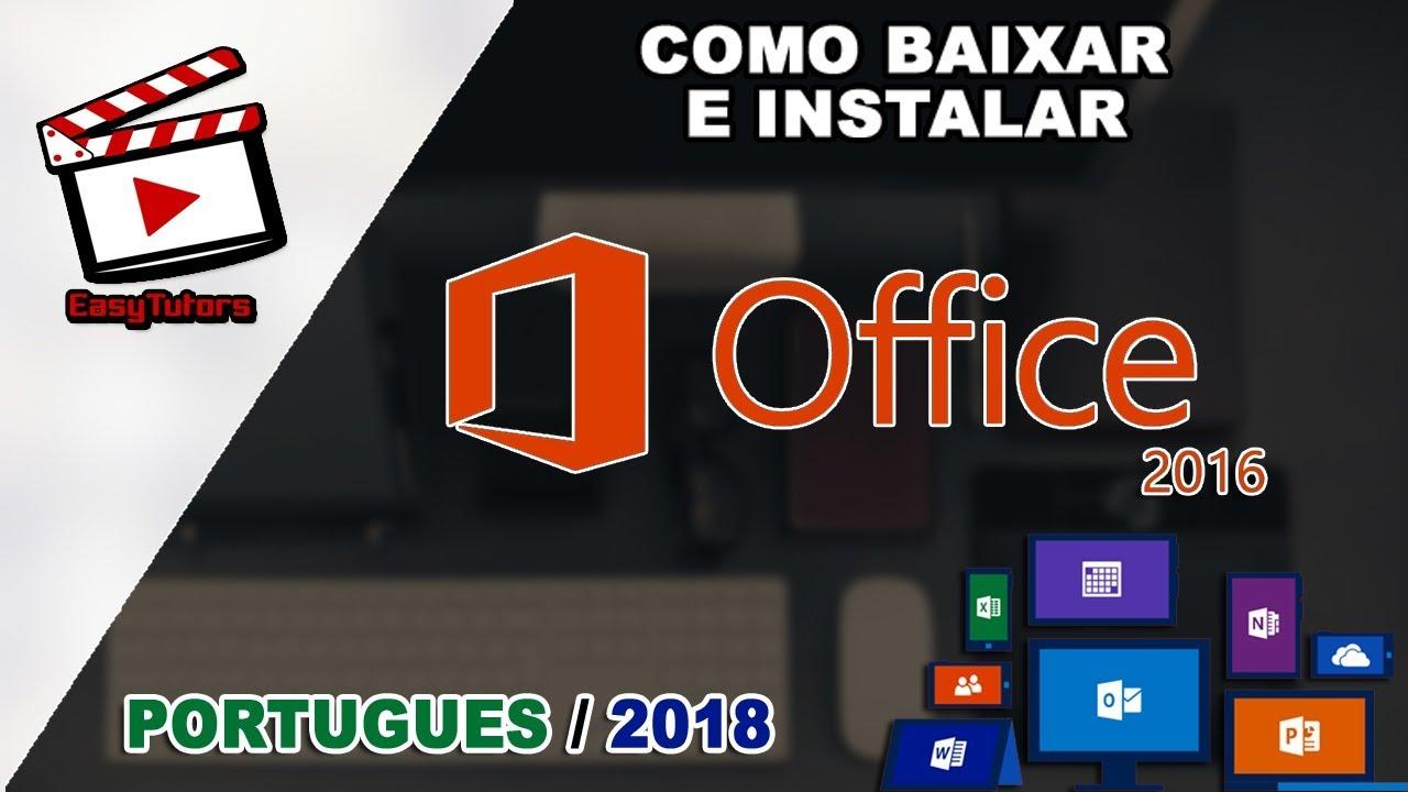 Como Baixar E Instalar Microsoft Office 2016 2019