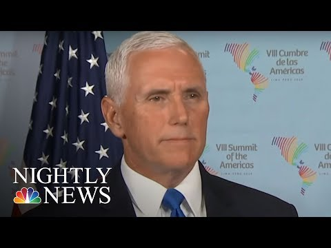 President Donald Trump\'s Officials Issue Warnings After Syria Strike | NBC Nightly News