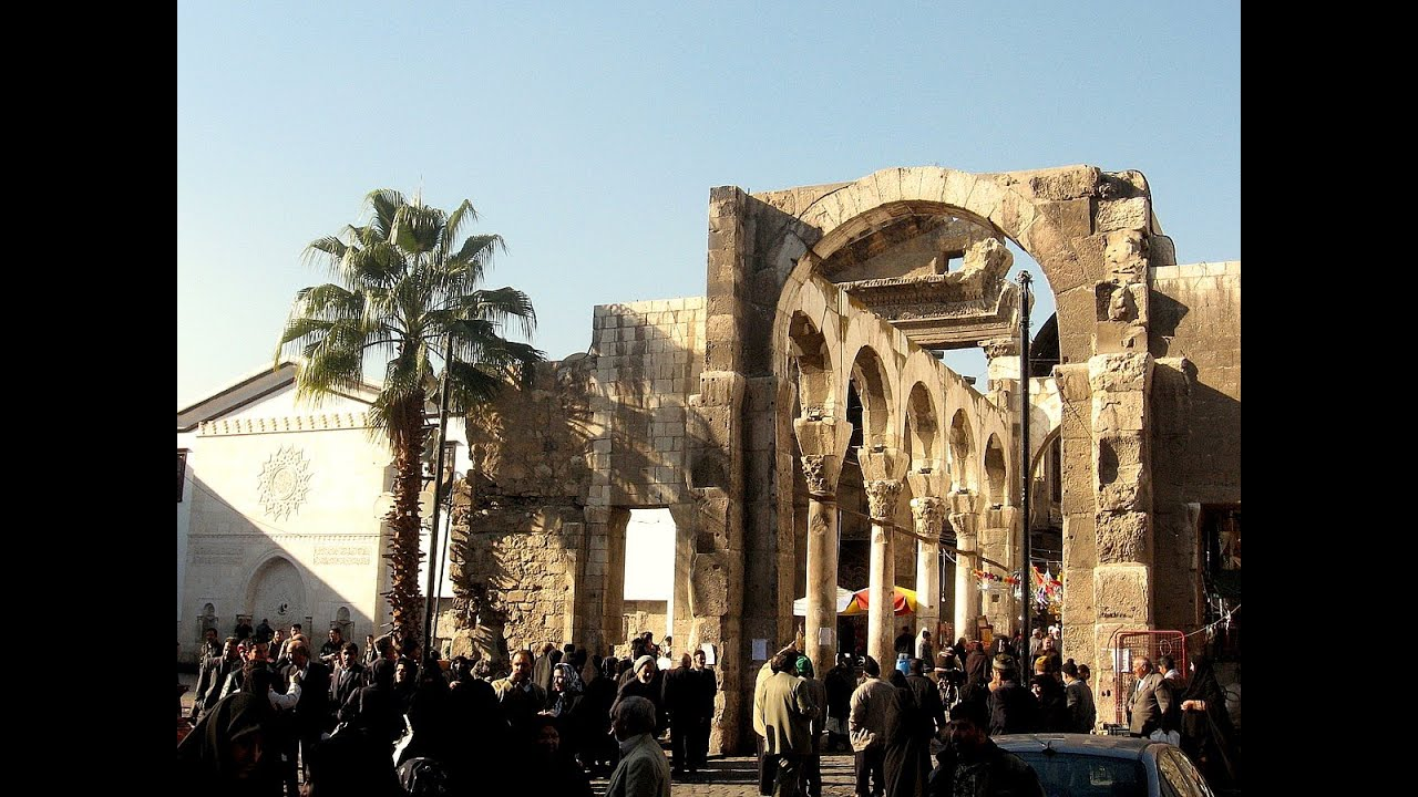 Damascus Architecture And Monuments Before The Civil War Started In