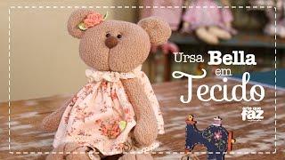 Ursa Bella – Boneca em Tecido (Vania Lima)