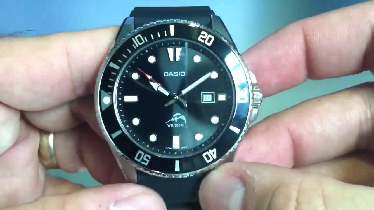 Casio Mdv 106 Duro 200 Divers Watch Mdv106 1av Youtube Ltp 1378l 2e Women Quartz Blue