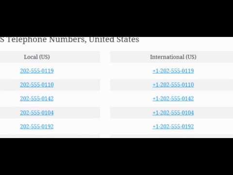 fake phone number generator