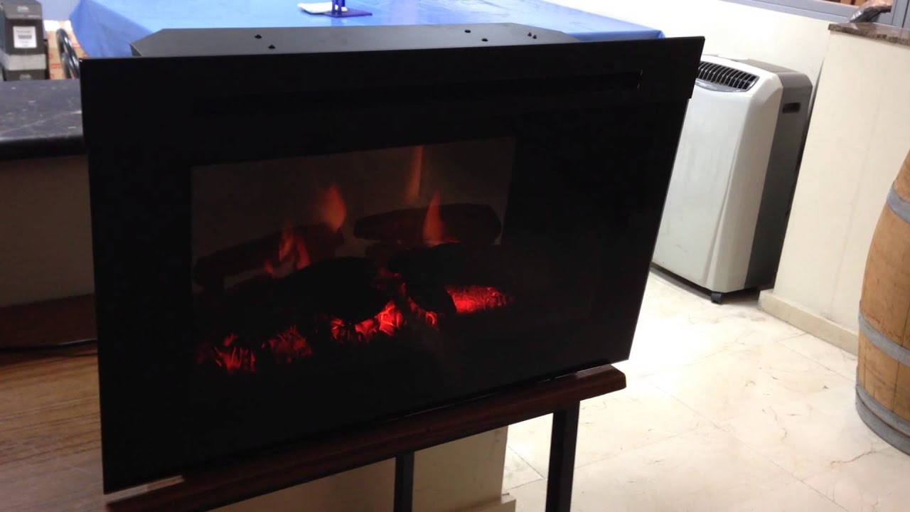Chimenea el ctrica para insertar firebox optiflame youtube for Chimenea para tv