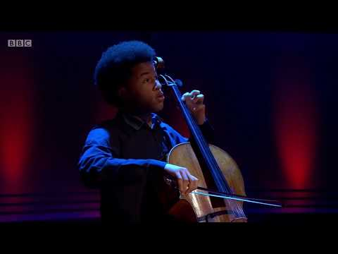 Cellist Sheku Kanneh-Mason. Bach's Cello Suite No. 1 in G Major. The Andrew Marr Show. 25 Feb 2018