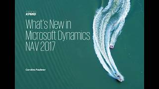 What's New in Microsoft Dynamics NAV 2017 - An Overview