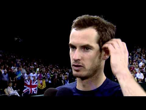 Interview: Andy Murray (GBR) after booking Great Britain's place in the quarterfinals
