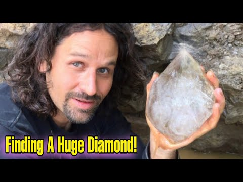 Mining Large Herkimer Diamond Quartz Crystals in New York