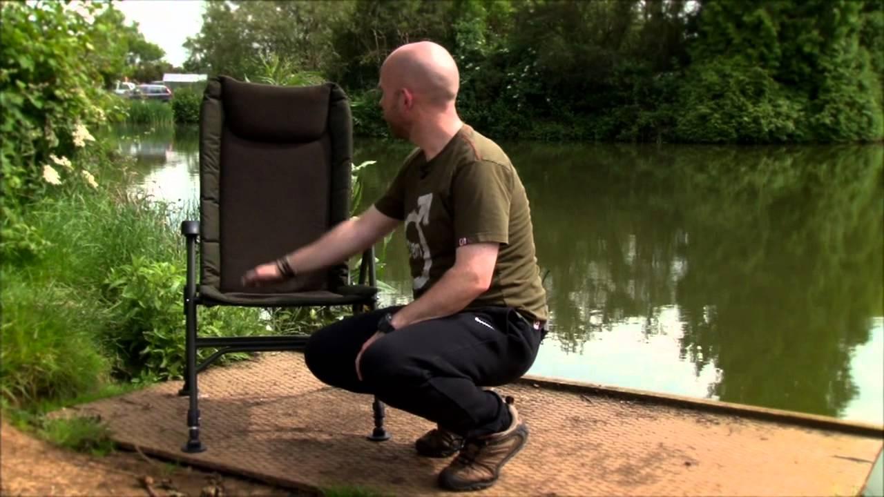 fishing roving chair toddler high activities saber supra carp recliner sc4 youtube