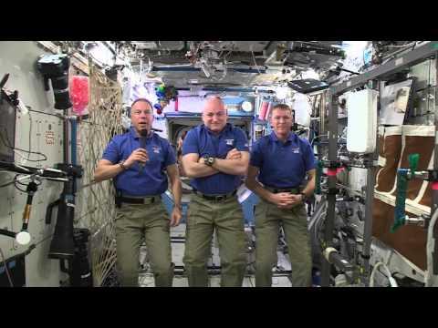 un saludo desde el espacio