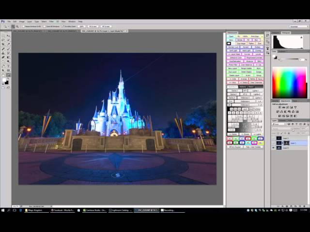 Blending Multiple Exposures in Photoshop - Walt Disney World Photo Editing