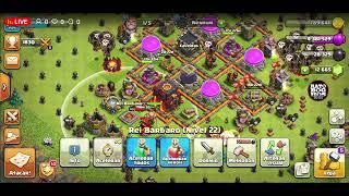 Clash Of Clans Ataques Cv10 Farm e Replay de PT War Th12xTh12