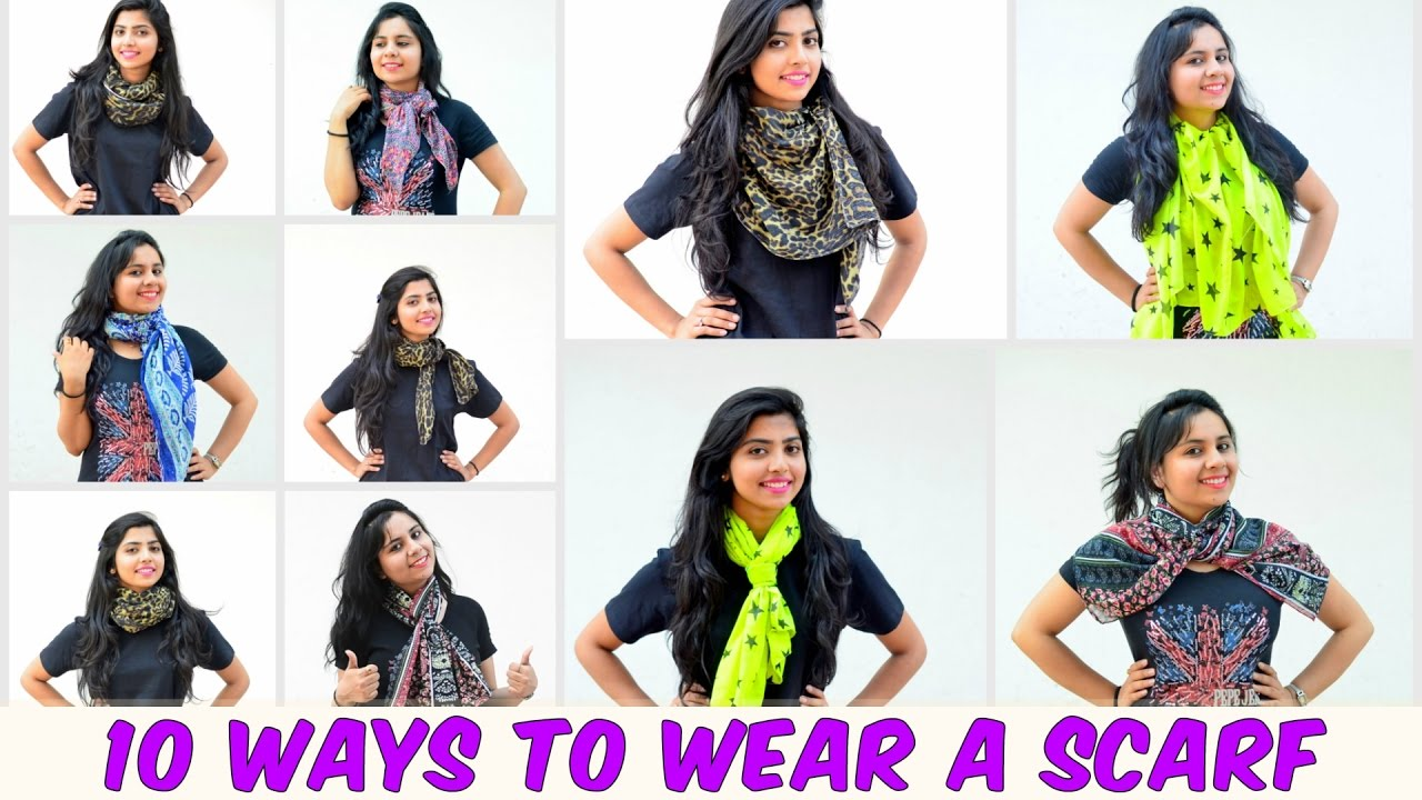 fe69e68a80eb 10 Easy Ways To Wear A Scarf in 6 minutes!! - YouTube