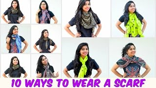 10 Easy Ways To Wear A Scarf in 6 minutes!!