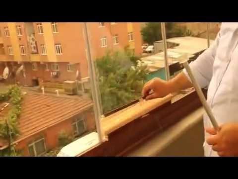 Cam Balkona Perde Montaji Cok Pratik Youtube