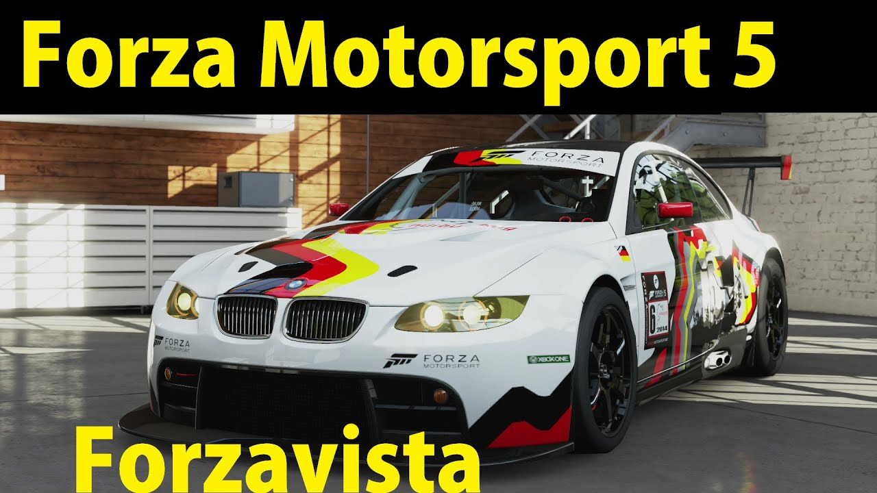 Forza 5 Forzavista BMW #92 Rahal Letterman Racing M3 GT2 2009 - YouTube