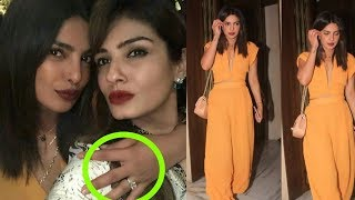 Priyanka Chopra finally shows her 4 crore engagement ring given by nick Jonas in a party