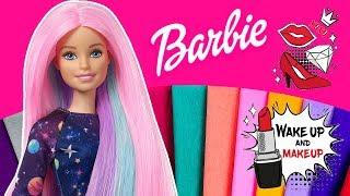 Barbie 💕 Farbowanie włosów bibułą ✂✂ DIY