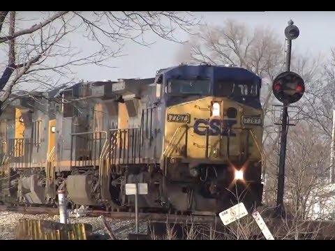 4 locomotive manifest railroad train on CSX Toledo Subdivision Wapakoneta Ohio
