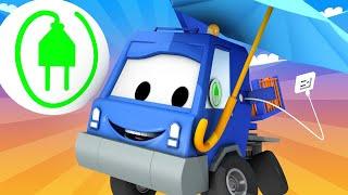 Автомойка Эвакуатора Тома - Автокран Чак - Автомобильный Город 💧 детский мультфильм