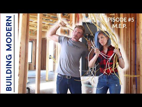 DIY \u0026 Professionals Install HVAC, Electrical, \u0026 Plumbing | Ep. 5 Building Modern On A Budget