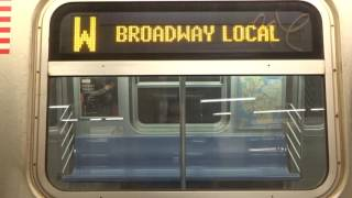 NYC Subway Special: R160 (W) Exterior Destination Sign To 96th Street-2nd Avenue
