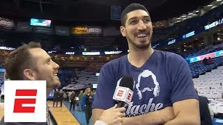 Enes Kanter on going to OKC to watch Thunder: