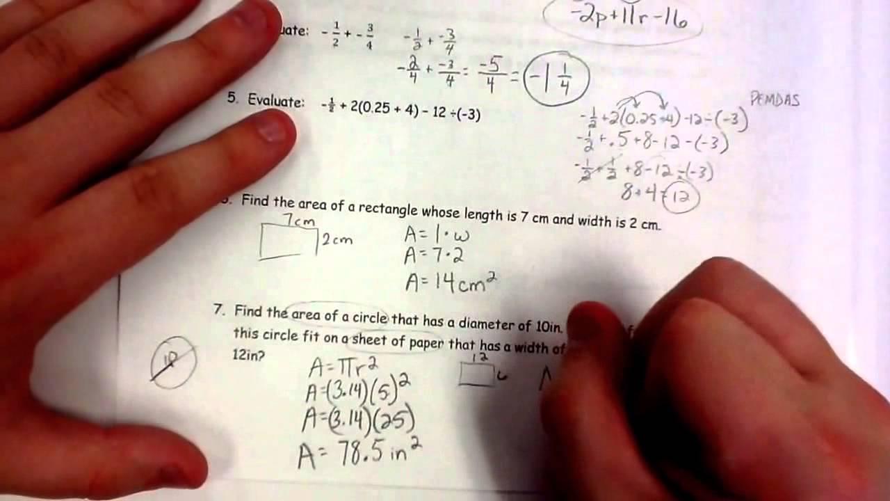 Grade 7 Math Review \