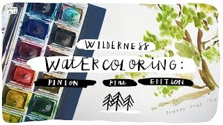 How to Watercolor x Pine Trees