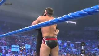 WWE Smackdown - 6/15/12 Kane save AJ and chokeslam Cm Punk and Daniel Bryan.