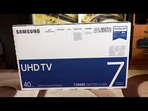 Распаковка 4K телевизора Samsung UE40NU7170U