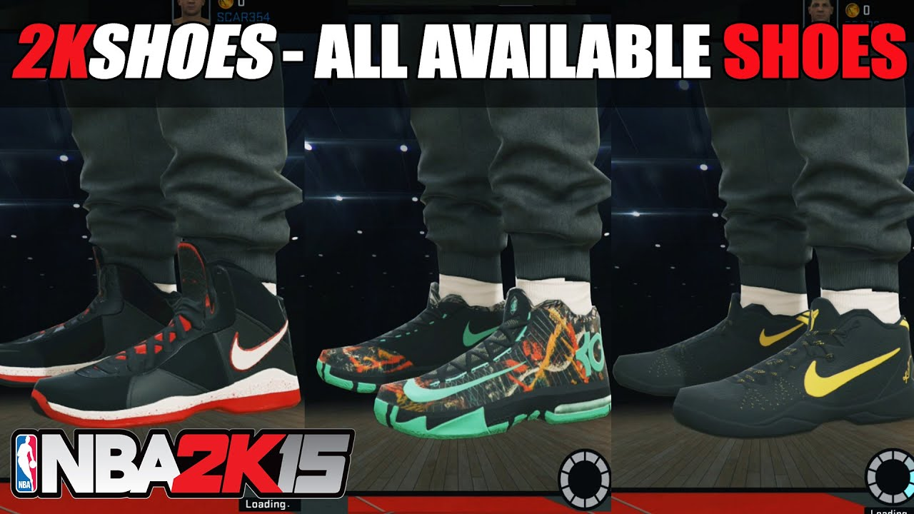 NBA 2K15 - All New Shoes, Jordan, Nike, Adidas, Under Armour (Brands  Showcase) - YouTube