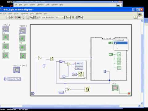 Traffic Light simulation by LabView 8.5 - YouTube