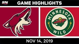 NHL Highlights   Coyotes vs Wild – Nov. 14, 2019