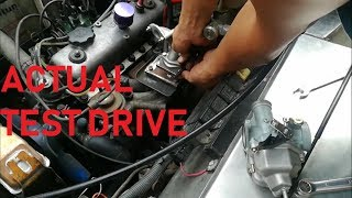TEST DRIVE - TOYOTA 4K ENGINE WITH MOTORCYCLE CARBURETOR