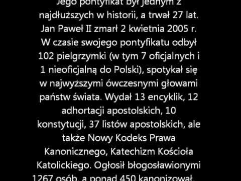 życiorys Jana Pawła Iiwmv Youtube