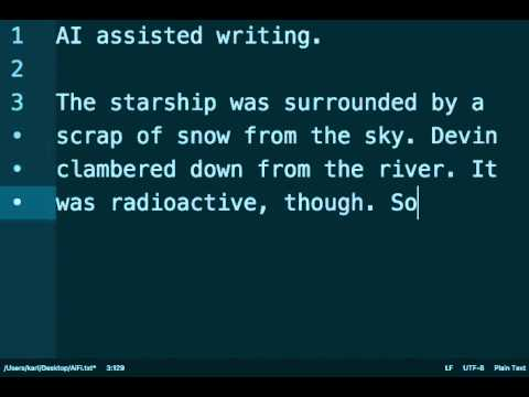 AI assisted SciFi writing