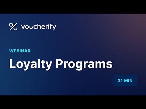 Voucherify Webinar – Loyalty Programs